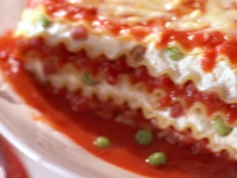 lasagna - lasagna stock videos & royalty-free footage