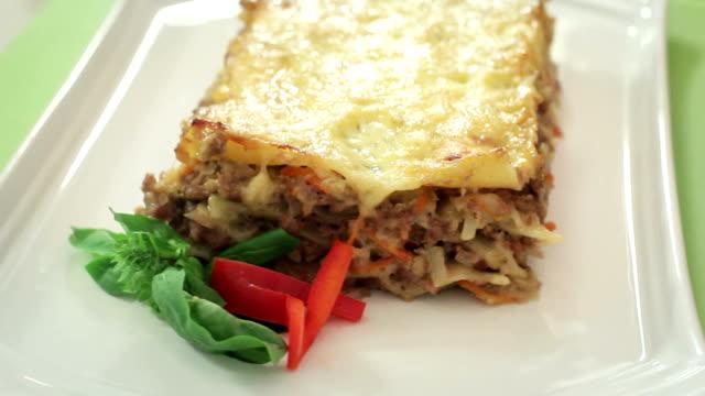 lasagne - lasagna stock videos & royalty-free footage