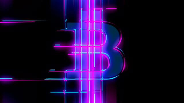 Laser bitcoin loop abstract background
