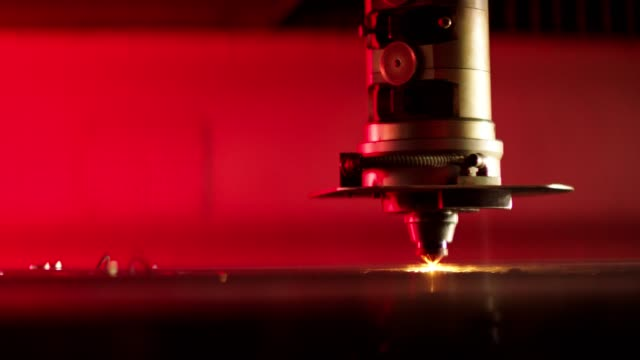 laser cutting and welding on steel surface - computer chip stock videos & royalty-free footage