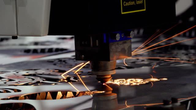 cnc laser cutting metal - laser stock videos & royalty-free footage