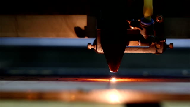laser cutting of acrylic - industrial equipment stock videos & royalty-free footage