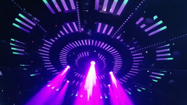 laser disco lights party with flashing at night clubbing - ufo stock videos & royalty-free footage