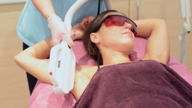 laser epilation - armpit stock videos and b-roll footage