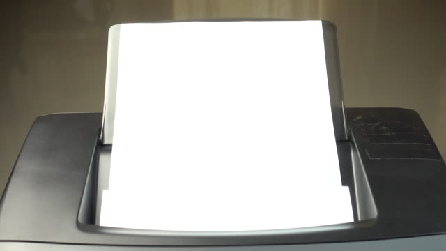 4k : laser printer document working - photocopier stock videos and b-roll footage