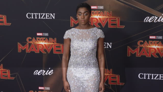 lashana lynch at the captain marvel world premiere at the el capitan theatre on march 04 2019 in hollywood california - film premiere stock videos & royalty-free footage
