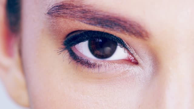lashes speak louder than words - blinking stock videos and b-roll footage