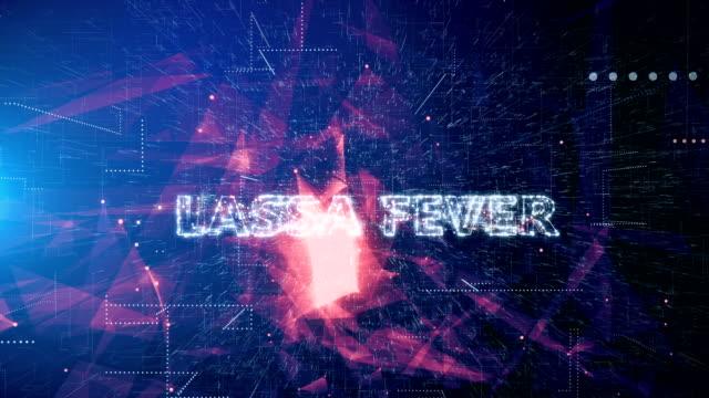 animazione del titolo lassa fever - vettore della malattia video stock e b–roll