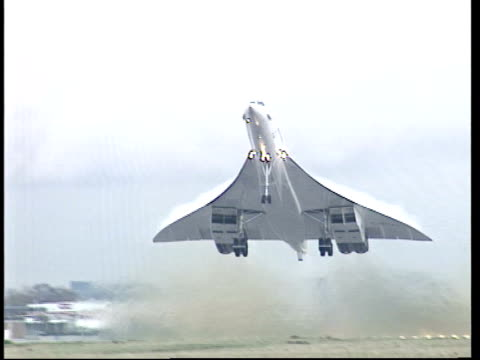 u'lay shorter than lunchtime news - british aerospace concorde stock videos & royalty-free footage