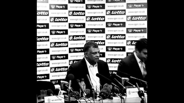 last day of the transfer window graphicised sequence tony fernandes sitting at press conference - transfer stock videos and b-roll footage