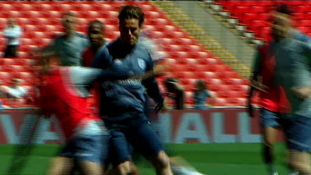 last day of the transfer window tx scott parker along during england training session - transfer stock videos and b-roll footage