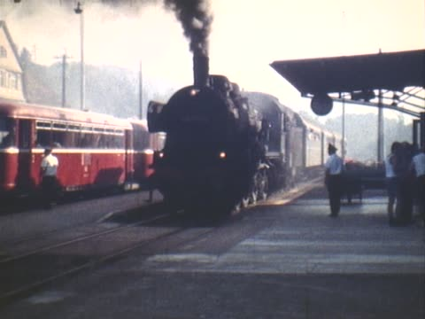 last days of the class 38 steam locomotives in the black forest - anno 1975 video stock e b–roll
