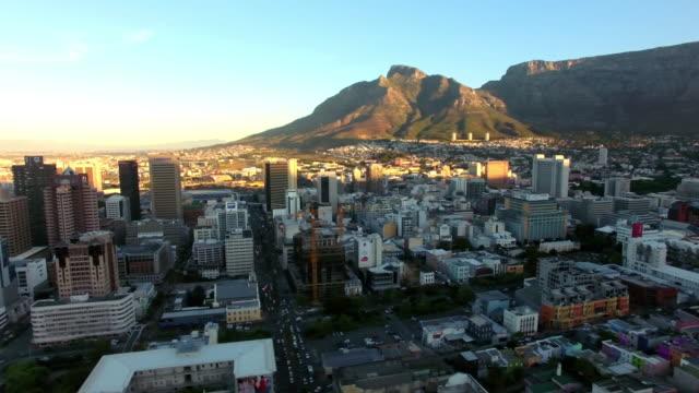 Laatste licht van de dag over Kaapstad