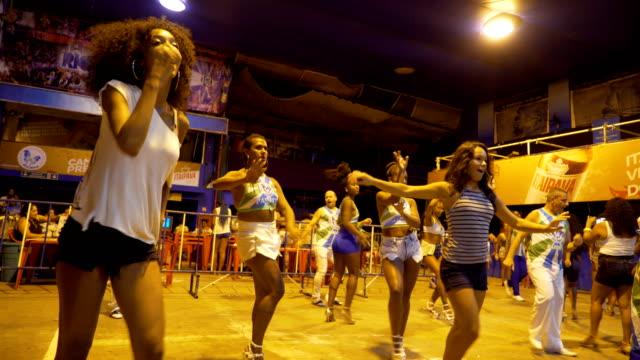 last practice for academicos da rocinha samba school in rio de janeiro the samba school located in front of rocinha favela january 31 2018 - samba school stock videos and b-roll footage