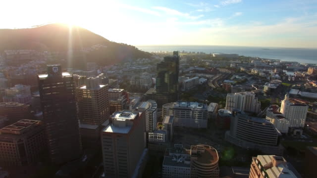 Last rays of light over Cape Town