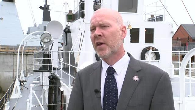 vidéos et rushes de last surviving british gunboat from the gallipoli campaign fully restored; ext matthew sheldon interview sot - museum