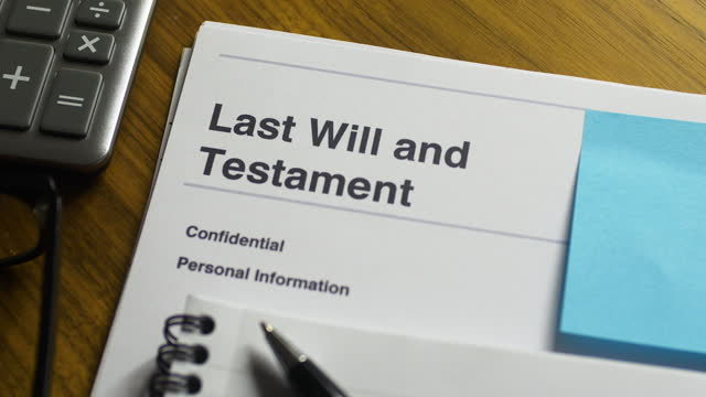 last will and testament close-up. pan l to r. - justice concept stock videos & royalty-free footage