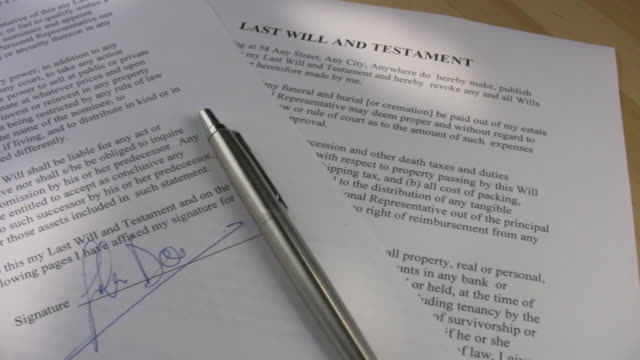 last will and testament - trust stock videos & royalty-free footage