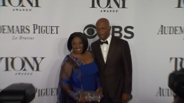 LaTanya Richardson and Samuel L Jackson at the 2014 Tony Awards at Radio City Music Hall on June 08 2014 in New York City