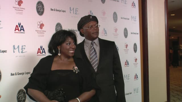 LaTanya Richardson and Samuel L Jackson at the 29th Annual The Gift of Life Gala at the Hyatt Regency Century Plaza Hotel in Beverly Hills California...
