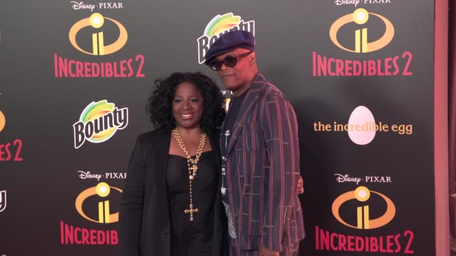 LaTanya Richardson Samuel L Jackson at 'Incredibles 2' Premiere in Los Angeles CA
