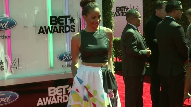 latarsha rose at the 2014 bet awards on june 29 2014 in los angeles california - bet awards stock videos and b-roll footage