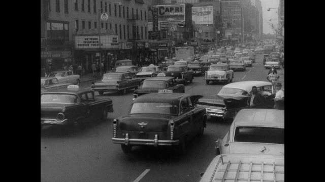 Late '50s New York City Traffic
