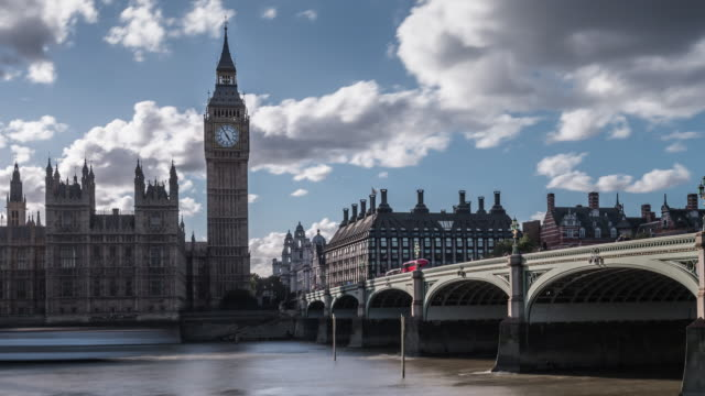 a late afternoon view of portcullis house big ben and the houses of parliament from the south thames embankment looking across the river - demokratie stock-videos und b-roll-filmmaterial