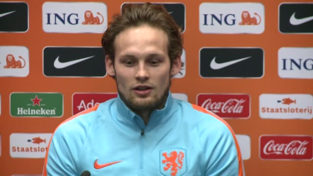 late dutch great johan cruyff remains a legendary figure even for players from his country who never saw him play netherlands defender daley blind... - oranje stock videos & royalty-free footage
