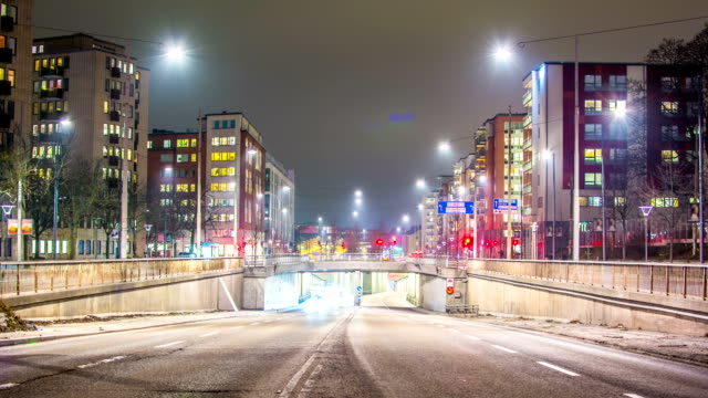 late night traffic time lapse - middle of the road stock videos & royalty-free footage