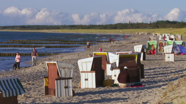 late summer evening on baltic sea beach - baltic sea stock videos & royalty-free footage
