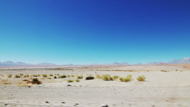 Lateral view of Atacama Desert while driving