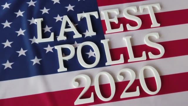 latest polls 2020 - democracy stock videos & royalty-free footage
