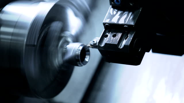 cnc lathe machine produces metal - accuracy stock videos & royalty-free footage