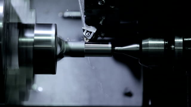 cnc lathe machine produces metal - metalwork stock videos & royalty-free footage