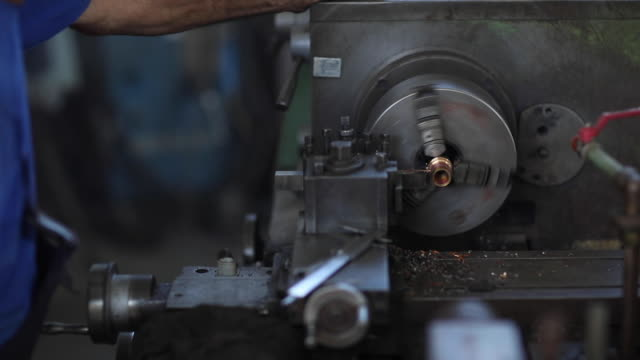 lathe, turn bench - jumpsuit stock videos & royalty-free footage