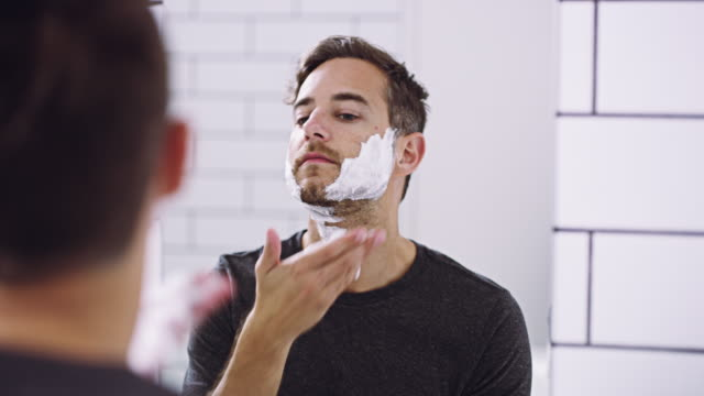 lather on and shave it off - shaving stock videos and b-roll footage