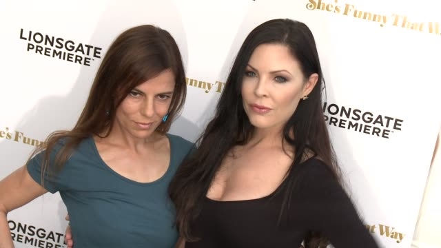 """lati grobman and christa campbell at the """"she's funny that way"""" los angeles premiere at harmony gold theatre on august 19, 2015 in los angeles,... - she's funny that way点の映像素材/bロール"""