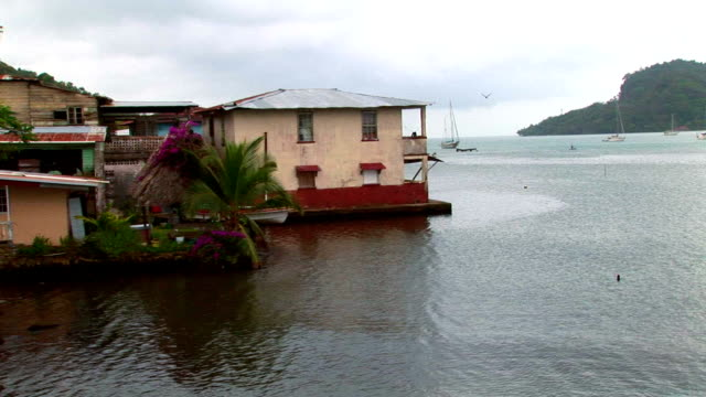 latin america - port town in panama - fishing village stock videos and b-roll footage