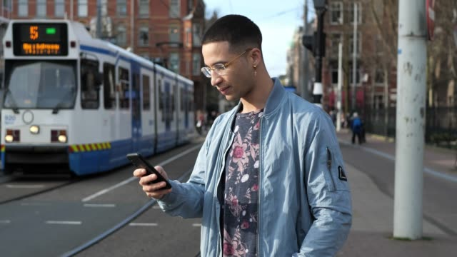 latino millennial generation commuter in the city - public transport stock videos & royalty-free footage