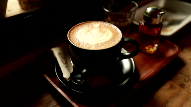 latte art - coffee cup stock videos & royalty-free footage