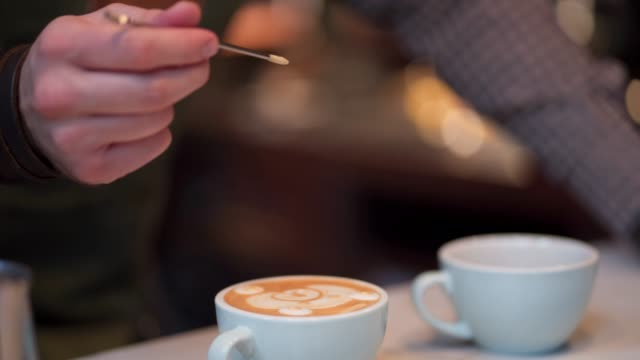 latte froth art - froth art stock videos and b-roll footage