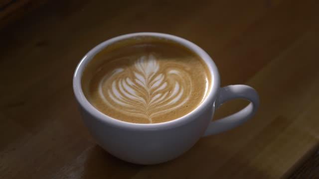 Latte in a Coffee Shop