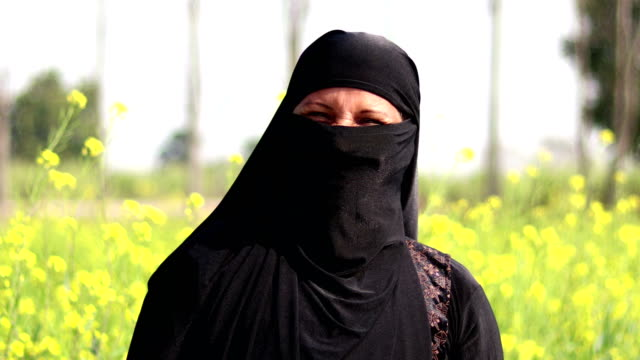 laughing arab woman portrait - burka stock videos and b-roll footage