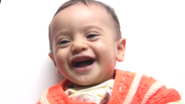 laughing baby - audio available stock videos & royalty-free footage