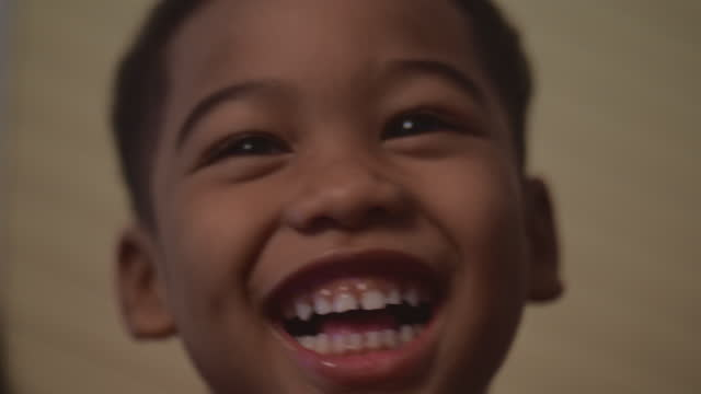 laughing boy - toothy smile stock videos & royalty-free footage