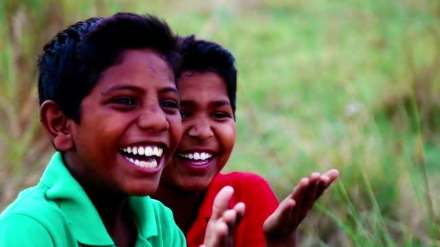 laughing children - developing countries stock videos & royalty-free footage