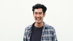 Laughing Thai Man