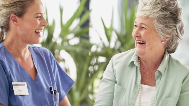 laughter is the best medicine - nursing assistant stock videos and b-roll footage
