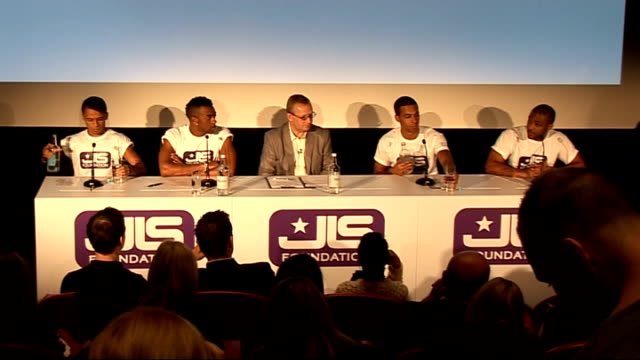 JLS launch brand of contraceptives to promote safe sex press conference ENGLAND London enter press conference JLS press conference SOT Decided to...
